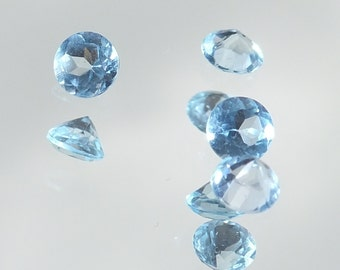 4mm Round Sky Blue Topaz Gemstone