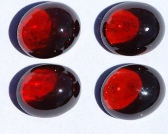 Garnet Cabochon Oval, Beautiful Dark Red Color Pyrope, One Piece, 12 x 10 mm, C2271