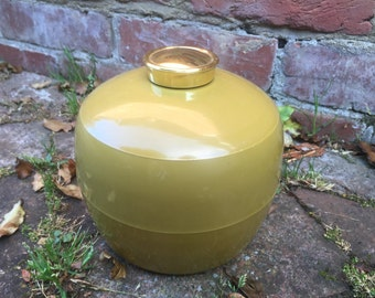Vintage Olive Green Ice Box