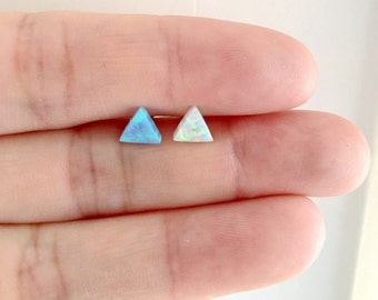 Opal Triangle Cartilage Tragus Earring. S4.