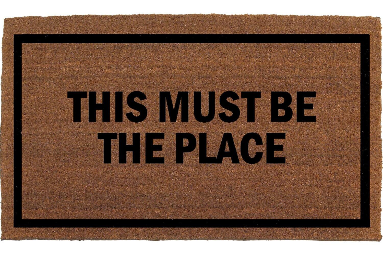 this must be the place door mat coir doormat by