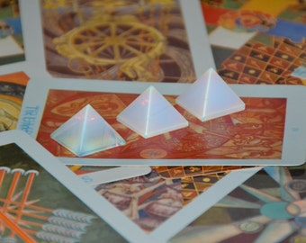 50% off ~ Discounted Opalite Crystal Pyramid