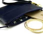 small clutch purse – navy blue – womens wallet – Essential Clutch