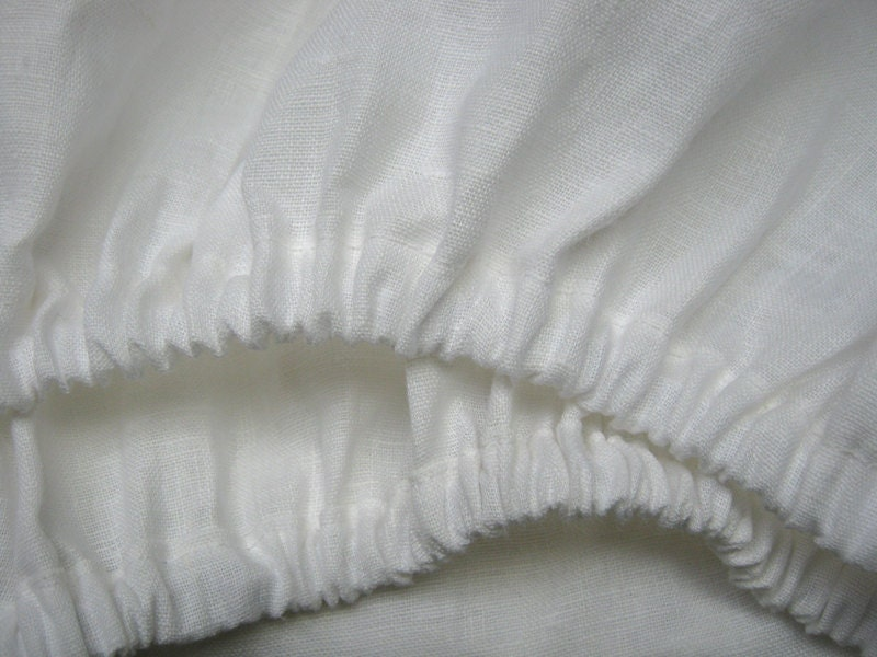 linen fitted sheet white twin xl full double queen king. Black Bedroom Furniture Sets. Home Design Ideas