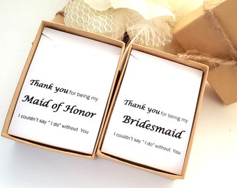 Bridesmaid Necklace Gift Box, Maid of Honor Gift,Bridesmaid message Jewelry Box, Gift Box, Necklace Gift Box #2