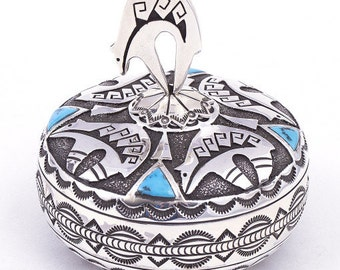 Henry Yazzie Bear Lidded Pot