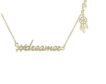 Hashtag Collection #dreamer necklace