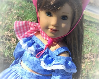 Hot Pink Rodeo Cowgirl Ensemble for 18 inch dolls