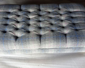 Large Harris and Tweed Footstool/coffee Table