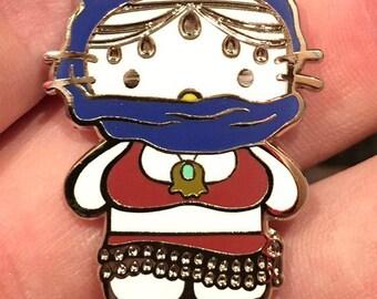Hello Heady Kitty - Festy kitty Hat pin