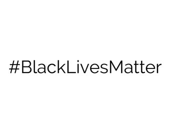 Hashtag Black Lives Matter Sticker Vinyl Decal