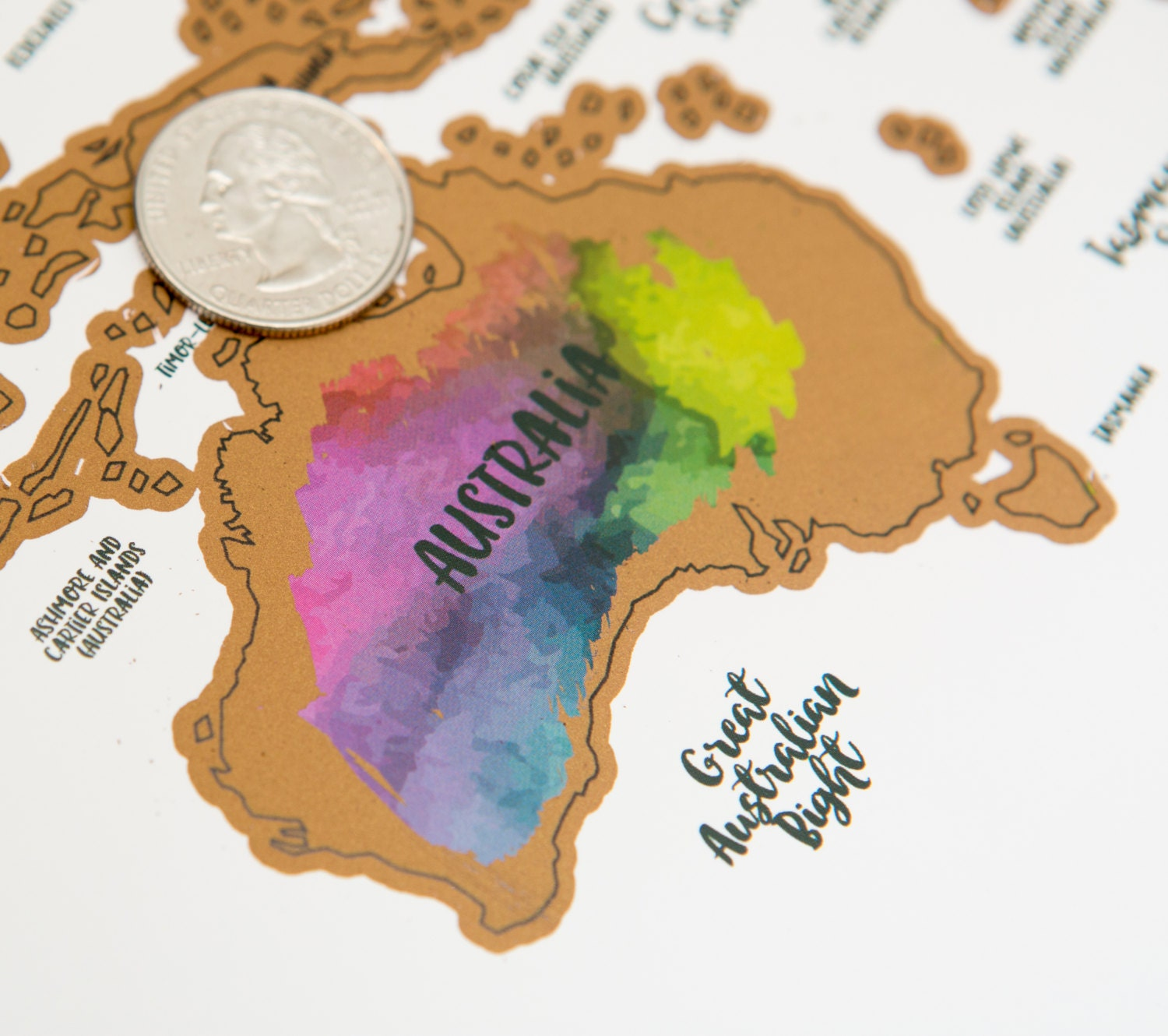 Its A Beautiful World Watercolor Art Scratch Your - Scratch off us map