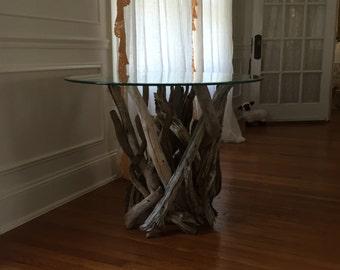 Driftwood Side Table. Handmade from Reclaimed Driftwood.