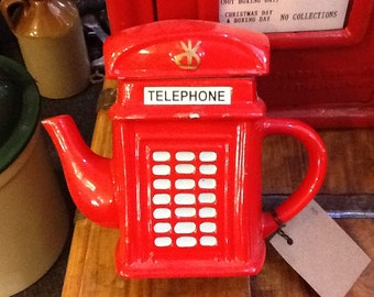 Red telephone box Tea pot