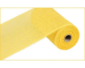 "10"" Yellow Paper Mesh, Yellow Woven Paper Mesh, Paper Mesh Roll (10 yards) - RR800129"