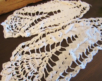 Vintage Arm Chair Cover Doilies - Set of Two