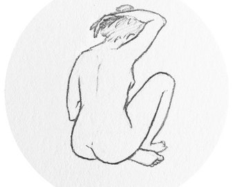 woman back sticker