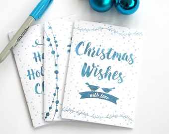 Christmas Card Set, Christmas Card Pack, Christmas Cards, Xmas Card Set, Watercolour Christmas Cards, Christmas Card Multipack