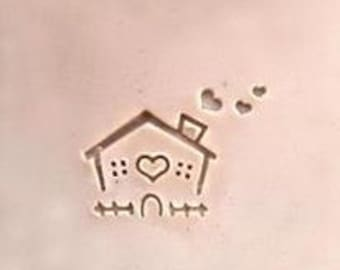 House Soap Stamp Mini Soap Stamp Heart Stamp DIY Soap Stamp Plexiglass Soap Stamp Lovely house Soap Stamp