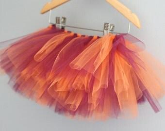 Orange and Maroon Tutu - Alumni Baby Gift - Orange Effect - Maroon Effect - Virginia Fan