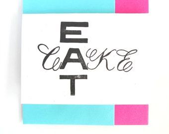 Letterpress Birthday Card- Eat Cake