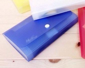 Accordion folder small blue