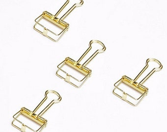Binder clips gold 4x