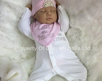 "Reduced For A Limited Time - Reborn doll girl 22"" Olivia newborn size genesis 3/4 limbs heat paints real realistic my fake baby"