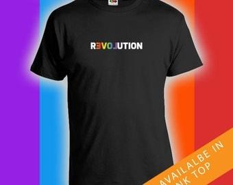 Revolution T-shirt - Gay Pride tshirt, Ally t-Shirt, Gay Pride Clothing, Gay Pride Merchandise, Mens Womens Shirts Lgbt shirts - CT-483