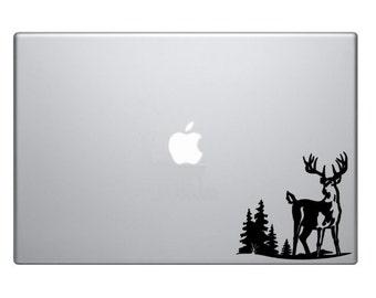 Deer Buck Hunting Macbook Decal Macbook Sticker Mac Decal Mac Sticker Decal for Apple Laptop Macbook Pro / Macbook Air