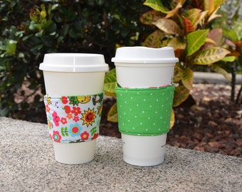 Reversible Insulated Coffee Cozy