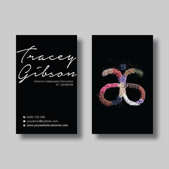 Arbonne Business Card Black Sand Digital Design