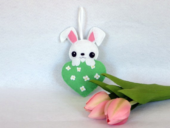Lapin kawaii decoration de printemps decoration de porte for Decoration porte lapin
