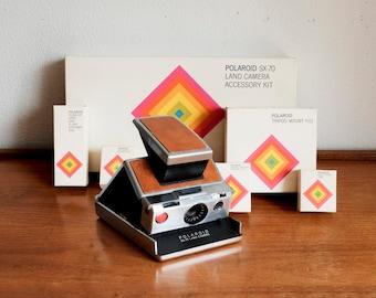 Polaroid SX-70 Land Camera + Accessory Kit