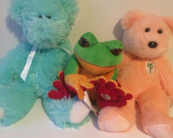 Weighted animal buddy (stuffed animal) sensory toy - 1-2lbs - washable (4 to choose from)