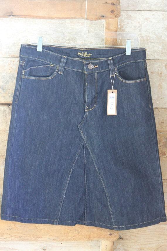 mid length denim skirt size 8