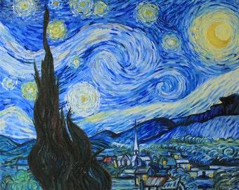 copy #Van #Gogh #Starry Night #oil painting #картина маслом #ван гог #звездная ночь #copy