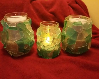 Beautiful outside lighting One with LED light, two with citronella candle