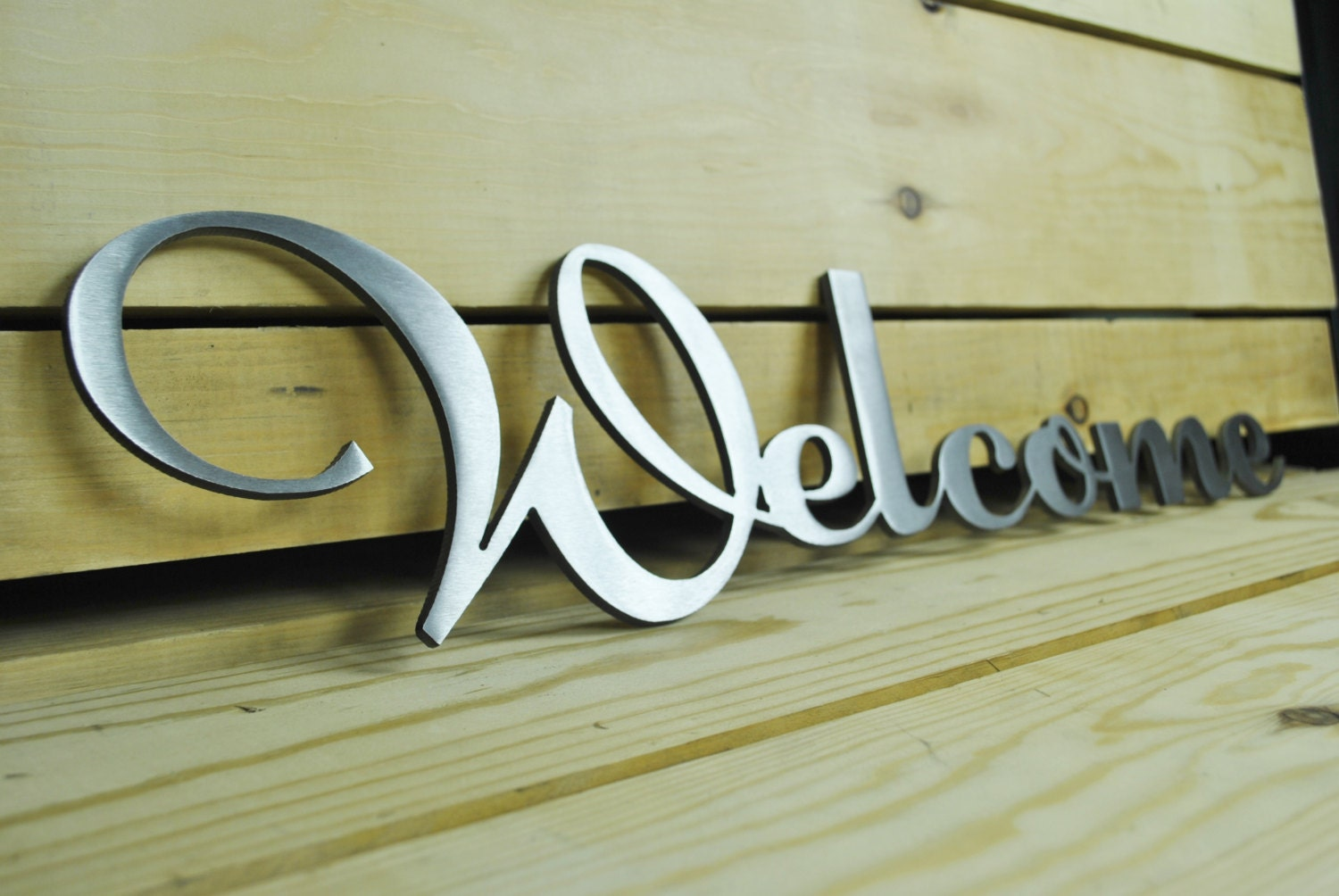 Stainless Steel Welcome Sign Free Shipping By