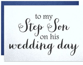 Gift For Stepson On Wedding Day : ... wedding day thank yous, wedding reception thank you cards gift note