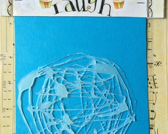 Hot glue stencil for mixed media and art journaling