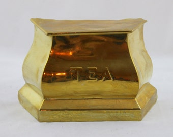 Vintage Edwardian Brass Tea Chest by RG.& Co.G