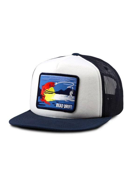 Fly fishing hat colorado foam front flat bill snap back by for Fishing flat bill hats