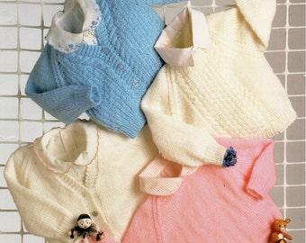 baby knitting pattern pdf baby cardigans & sweaters knitting pattern newborn 16-20 inch DK instant download