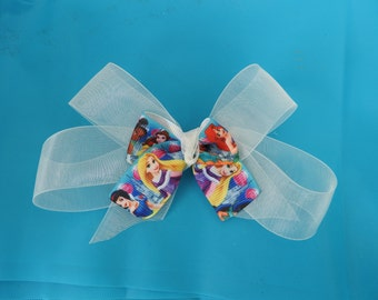 princess hair clip set of 2 clips