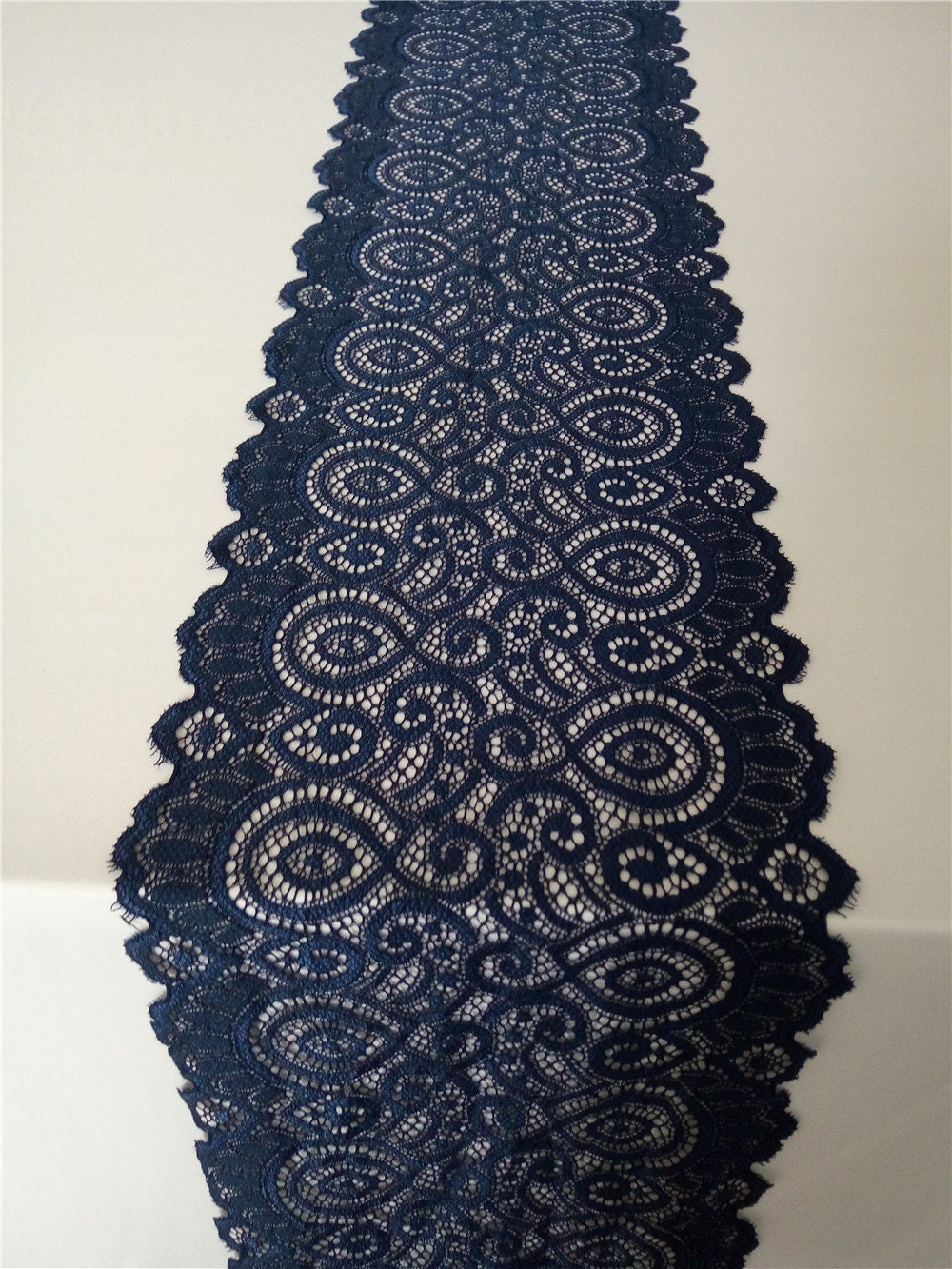 7ft navy lace table runner 7 wedding table runner