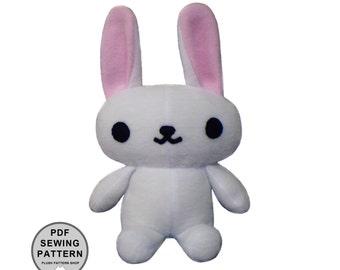 Plush Bunny PDF - Stuffed Toy Sewing Pattern