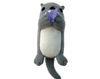 Plush Otter Toy Pattern, Plush Otter Sewing, Stuffed Otter Toy, DIY Otter, Stuffed Animal Pattern, Stuffed Otter Pattern, Otter Plushie PDF