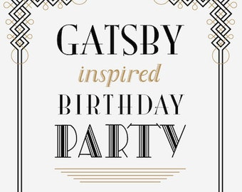 Gatsby customized paper good items