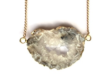 Natural mineral necklace